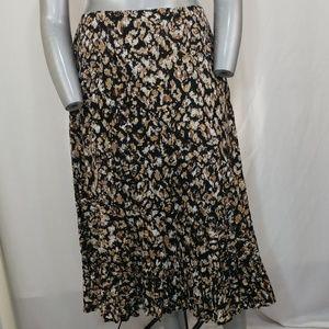 Emma James Cotton Tan/Black Splatter Boho Skirt 16